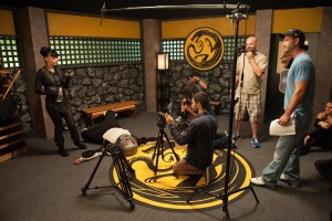 """The director, cast and crew are constantly in action on the set. They are seen here filming Episode III """"Ganamazol's Gambit."""" Photo credit: Damian Vines Photography."""