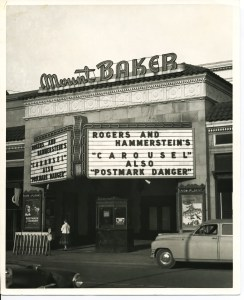 The historic marquee has been restored and continues to announce each of MBT's performances. Photo courtesy: Mount Baker Theatre.