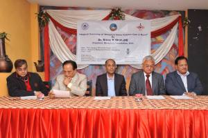 The inauguration of the home hospice program was held in Nepal. Photo courtesy: Binaytara Foundation.