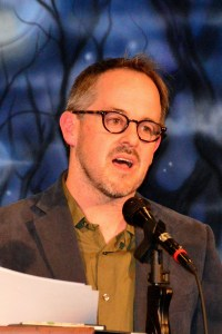 Washington State Poet Laureate 2016-2018 Tod Marshall appeared at poetrynight in April 2016. Photo credit: Gary Wade.