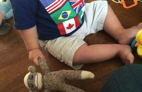 The Bellingham Sock Monkey Project makes monkeys for all age ranges from babies to teenagers. Photo courtesy: A Comfort Kids Project.