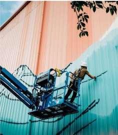 The mural will beautify the local area. Photo courtesy: Gretchen Leggitt.