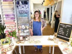 Morgan at her pop-up cookie class at Spruce in downtown Bellingham. Photo courtesy: Morgan G. Cookies.