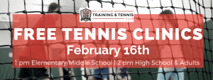 Free Beginner Tennis Clinics @ Bellingham Training & Tennis Club