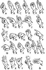 Chilean manual alphabet