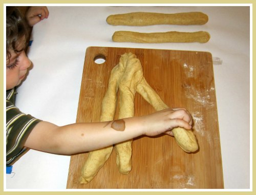 Starting a Challah Tradition with Kids: What Do We Do All Day? {Parenting and Faith on Alldonemonkey.com}