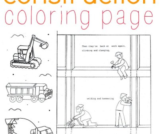 Construction Coloring Page For Kids Who Love Diggers