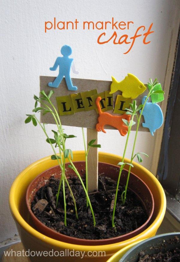 Indoor Gardening Activity Kidmade Plant Markers