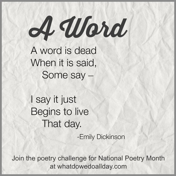 Poetry Challenge for Kids {Week 2}