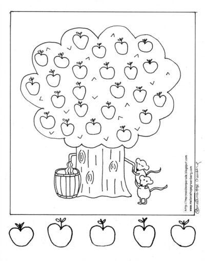 Fall Fun: Apple Tree Coloring Page