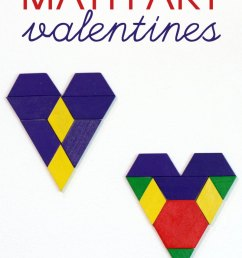 Valentine's Day Math Art Ideas -- Without Worksheets [ 1132 x 800 Pixel ]