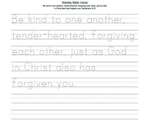 Be kind to one another, tender-hearted, forgiving each other, just as God in Christ also has forgiven you. Ephesians 4:32