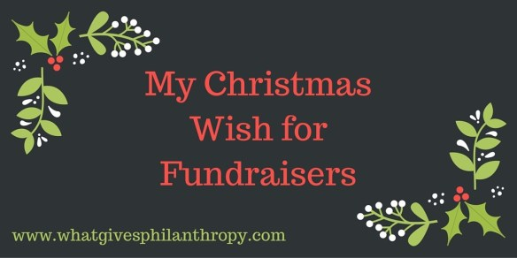 my christmas WISH FOR FUNDRAISERS