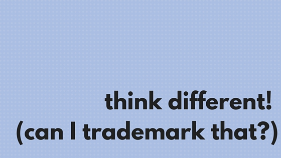 think different! (can I trademark that-)