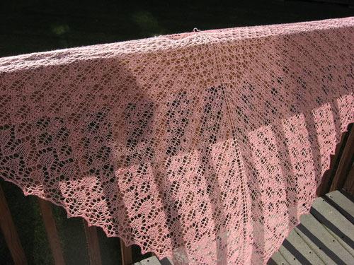 Finished Pangea shawl