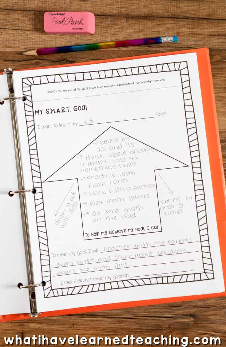 hight resolution of Goal Setting \u0026 Data Portfolio for Elementary Students