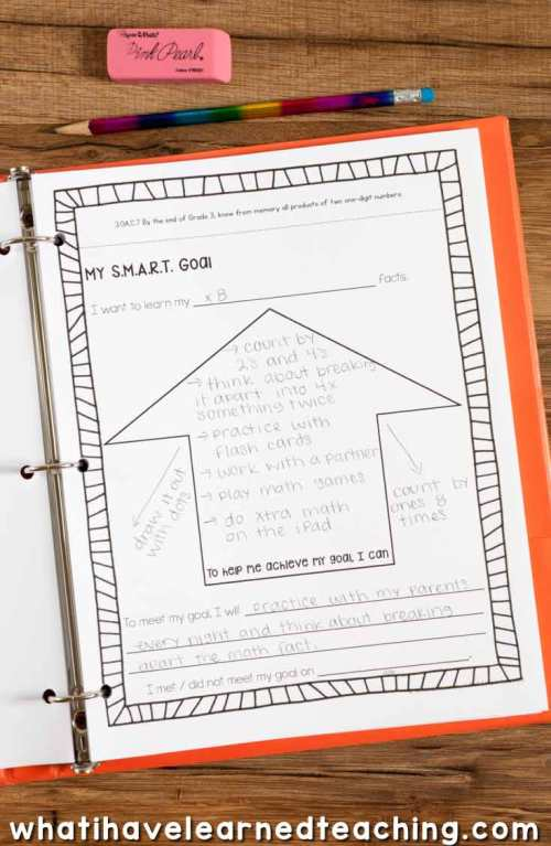 small resolution of Goal Setting \u0026 Data Portfolio for Elementary Students