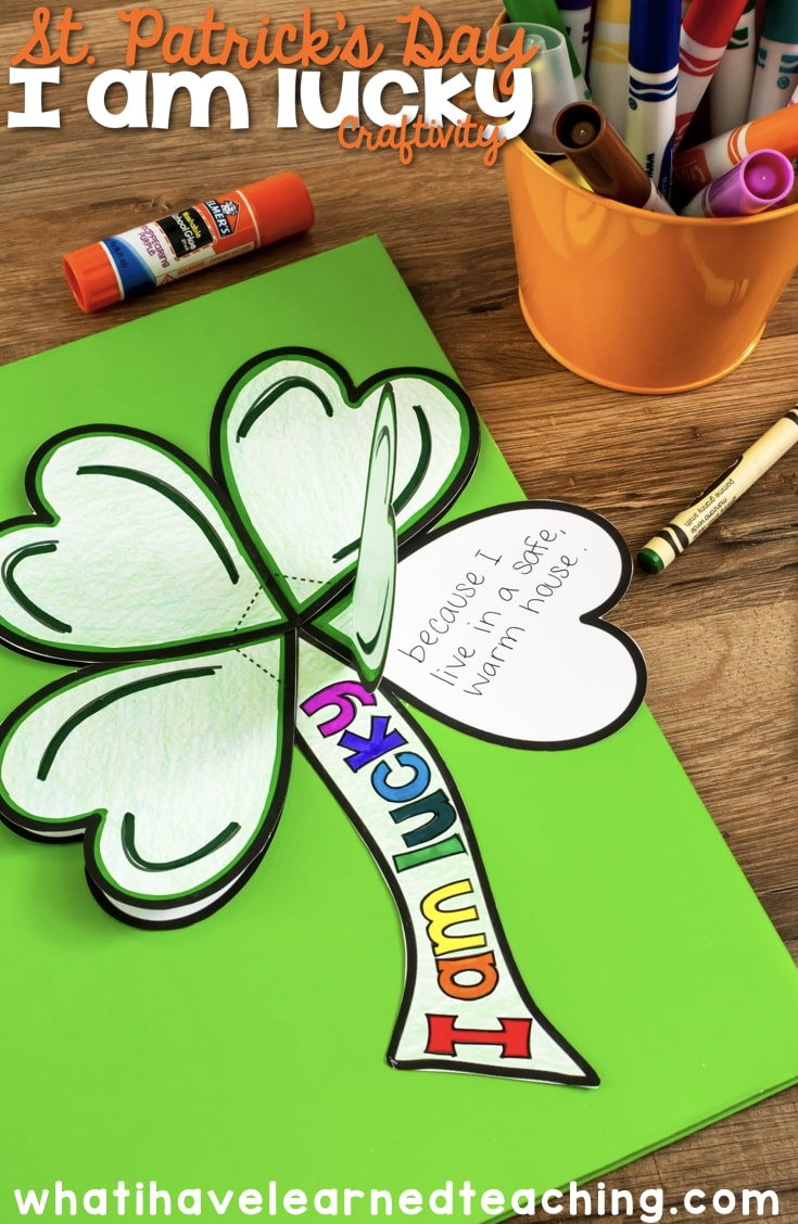 small resolution of I Am Lucky St. Patrick's Day Craftivity