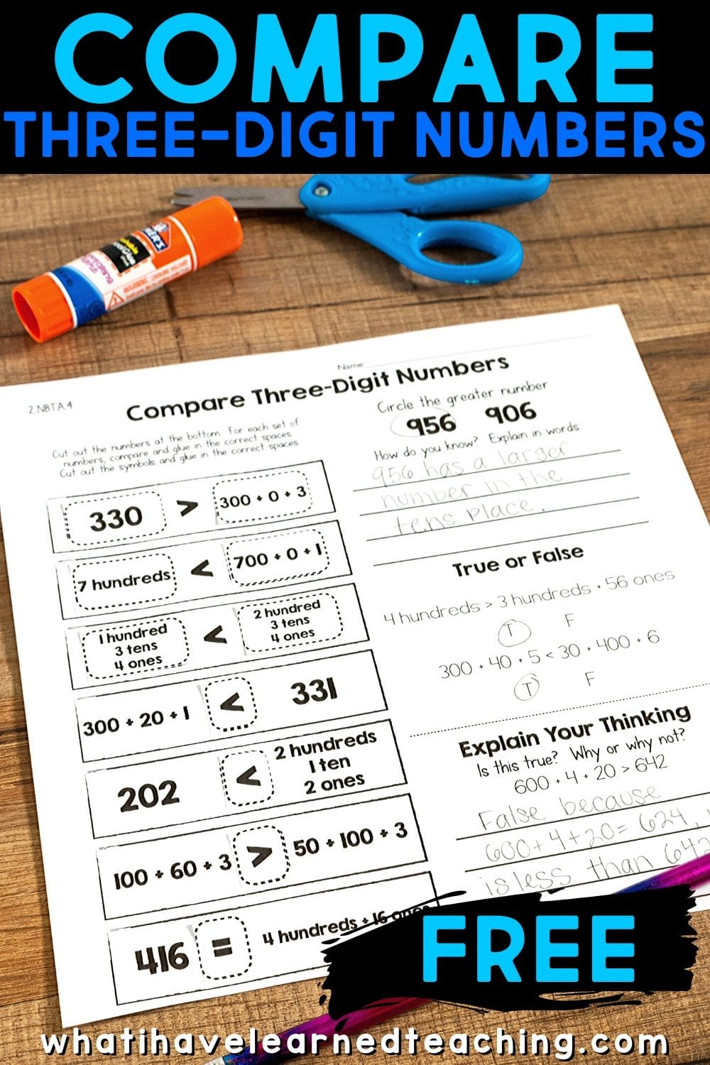 hight resolution of Cut \u0026 Paste Math Activities for Every Second Grade Standard