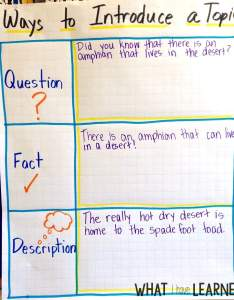 Informational writing can be difficult for students they mainly have trouble figuring out which facts also introduce the topic week spade foot toads rh whatihavelearnedteaching