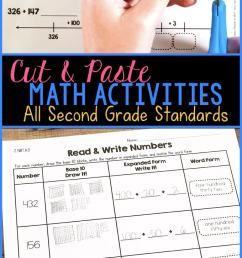 Cut \u0026 Paste Math Activities for Every Second Grade Standard [ 1435 x 680 Pixel ]