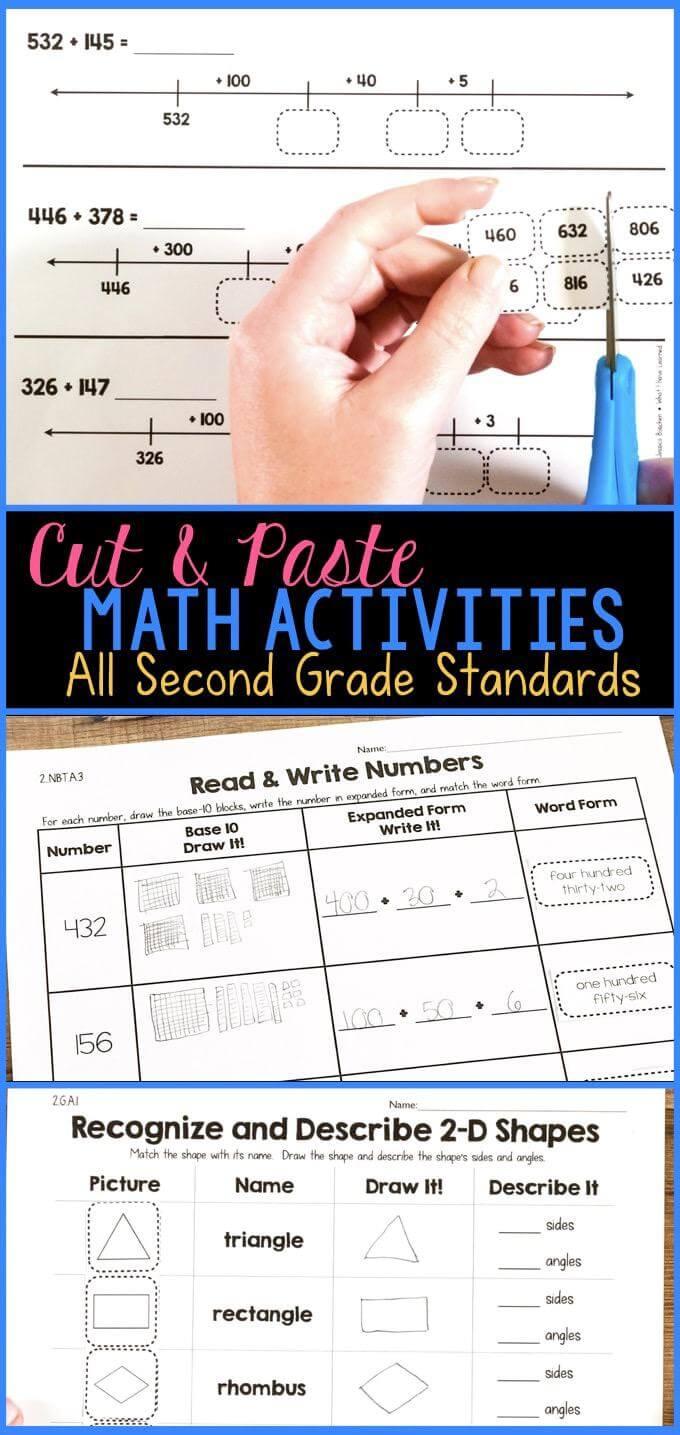 hight resolution of Cut \u0026 Paste Math Activities for Every Second Grade Standard