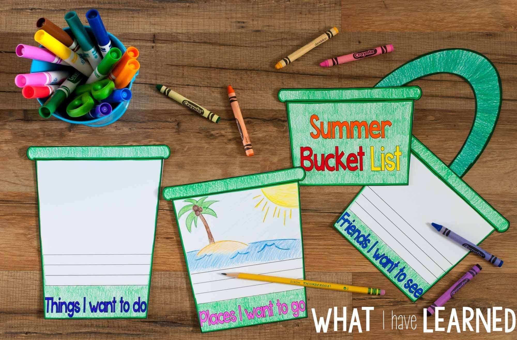 Summer Bucket List Flap Book Writing Craftivity