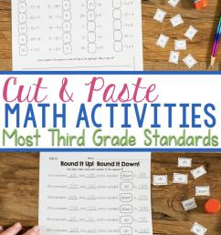 Cut \u0026 Paste Third Grade Math Activities [ 2000 x 736 Pixel ]