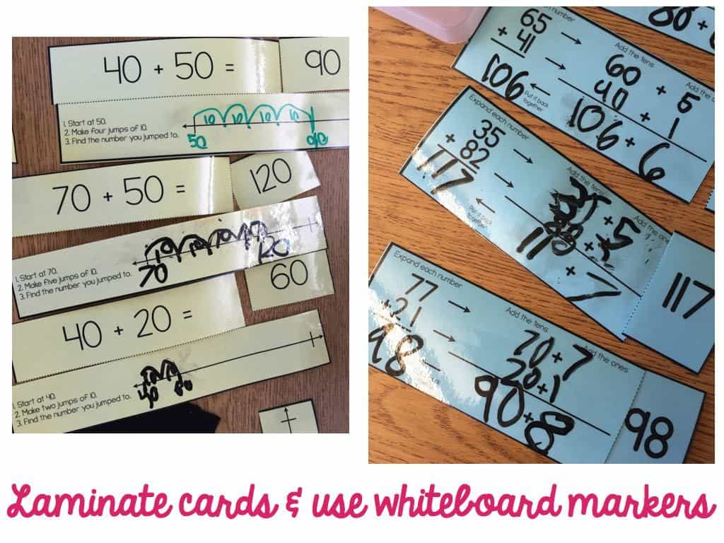 Two Digit Addition Activities For Math Stations