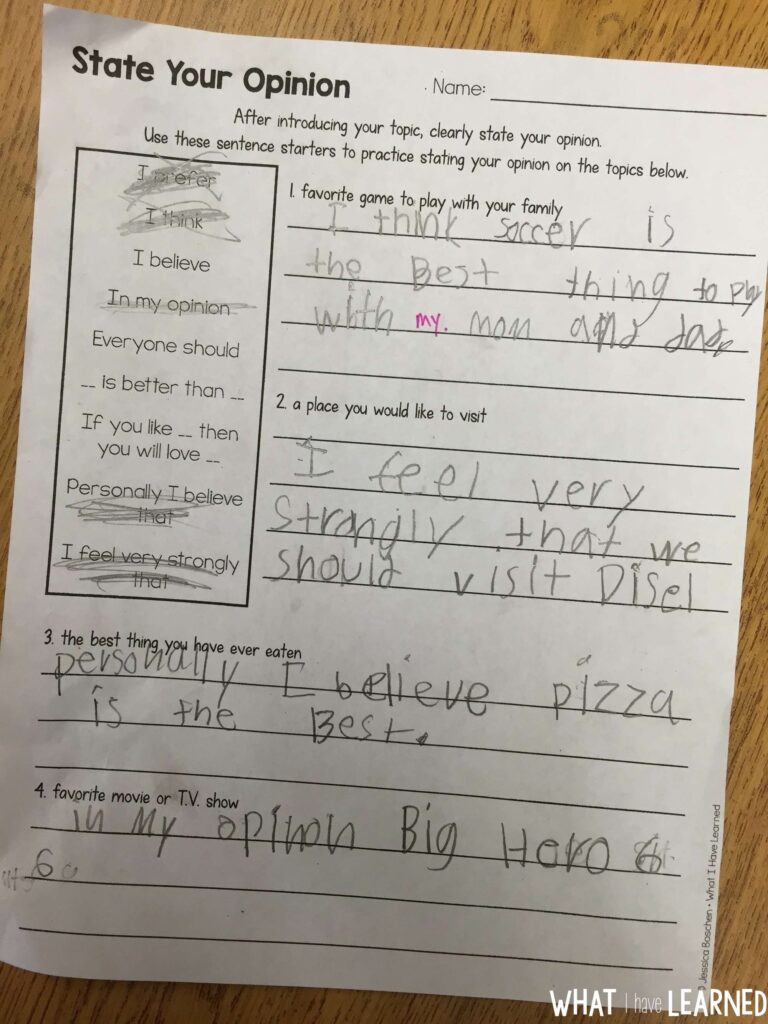 hight resolution of How to Teach Opinion Writing