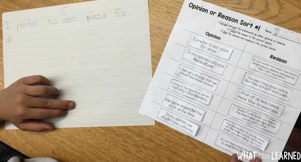 medium resolution of How to Teach Opinion Writing