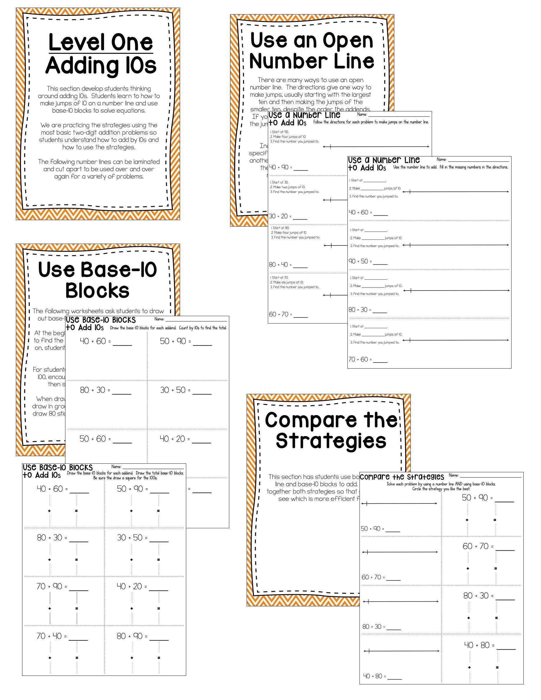 Two Digit Addition No Prep Printable Practice