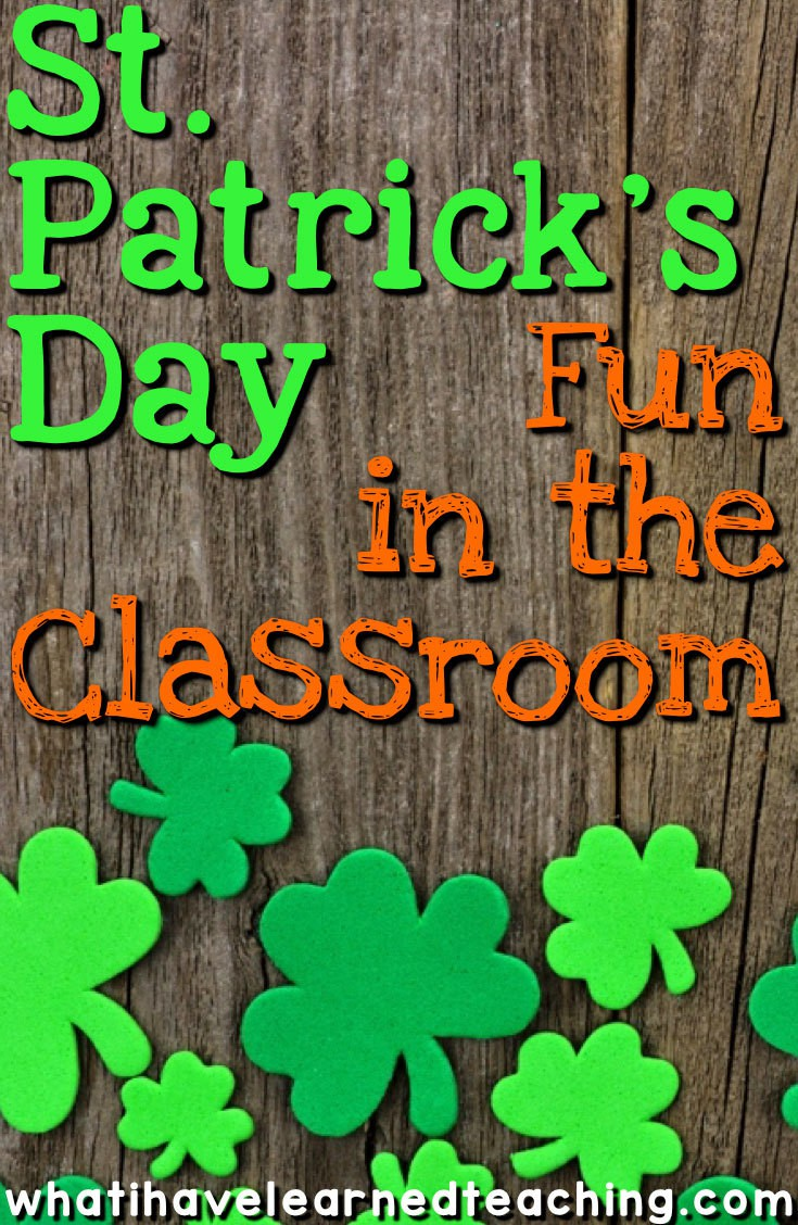 St. Patrick's Day Fun in the Classroom [ 1128 x 735 Pixel ]