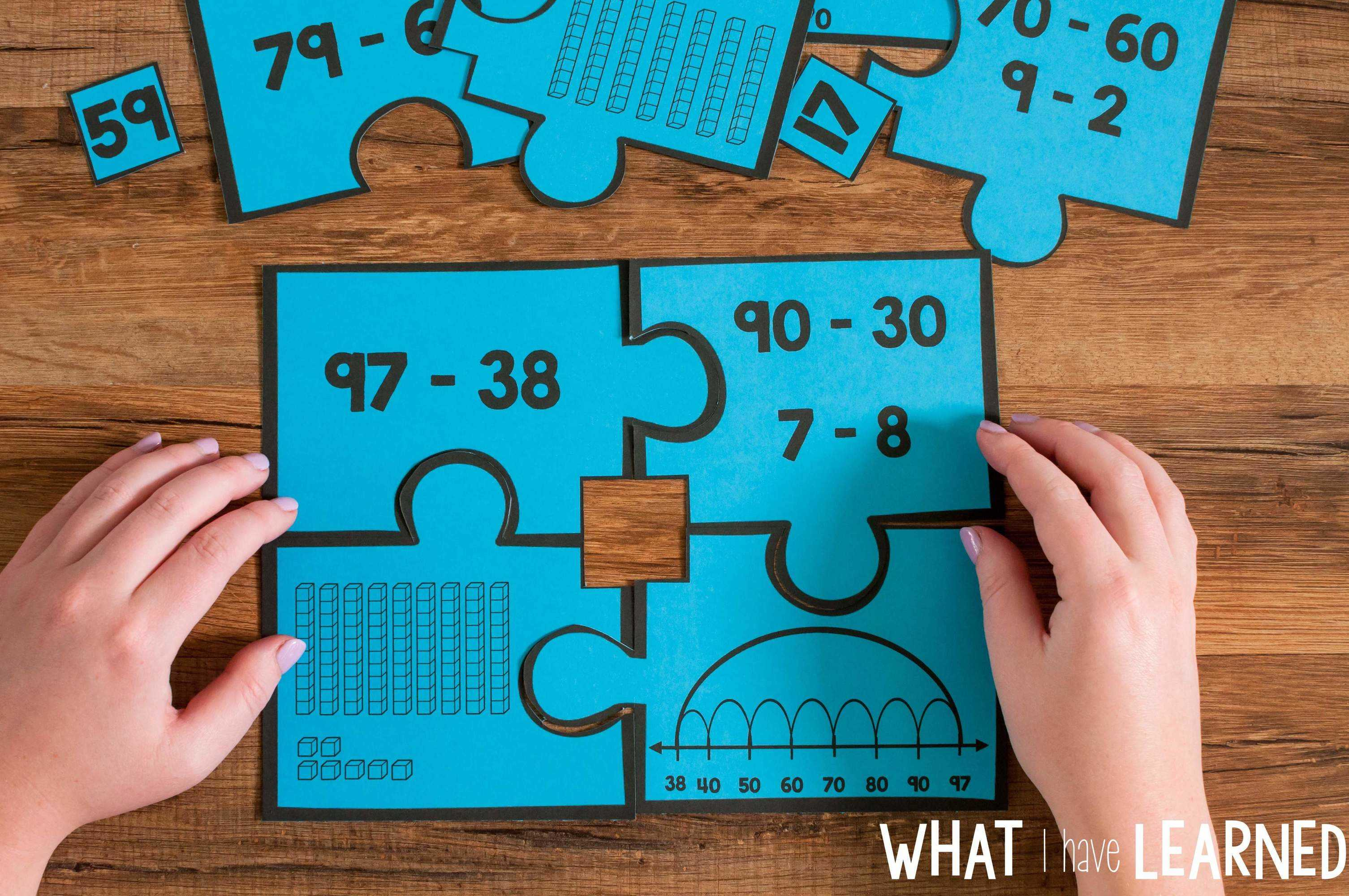 Number Puzzles For Second Grade Math Stations