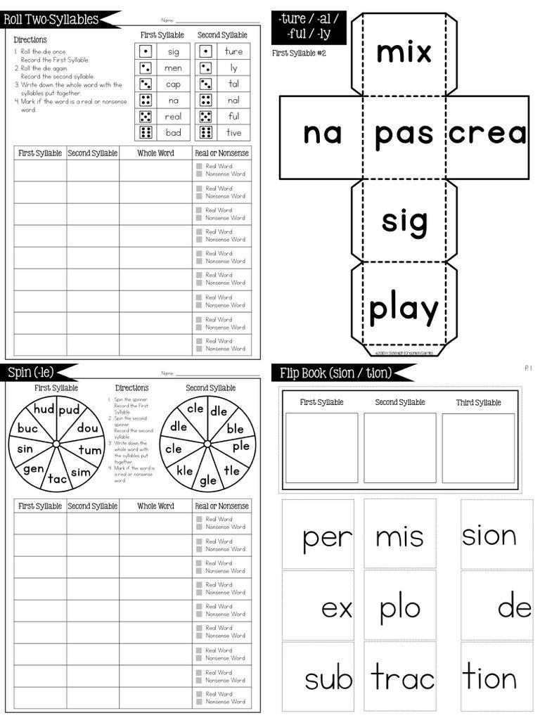Open & Closed Syllables & Irregular Syllables BUNDLE