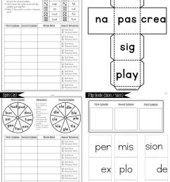 Open \u0026 Closed Syllables and Irregular Syllables BUNDLE [ 1024 x 768 Pixel ]