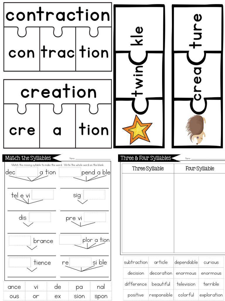 hight resolution of Open \u0026 Closed Syllables and Irregular Syllables BUNDLE