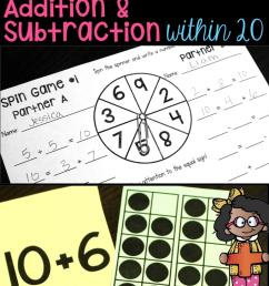 Addition and Subtraction Within 20 - Make 10 [ 1435 x 680 Pixel ]