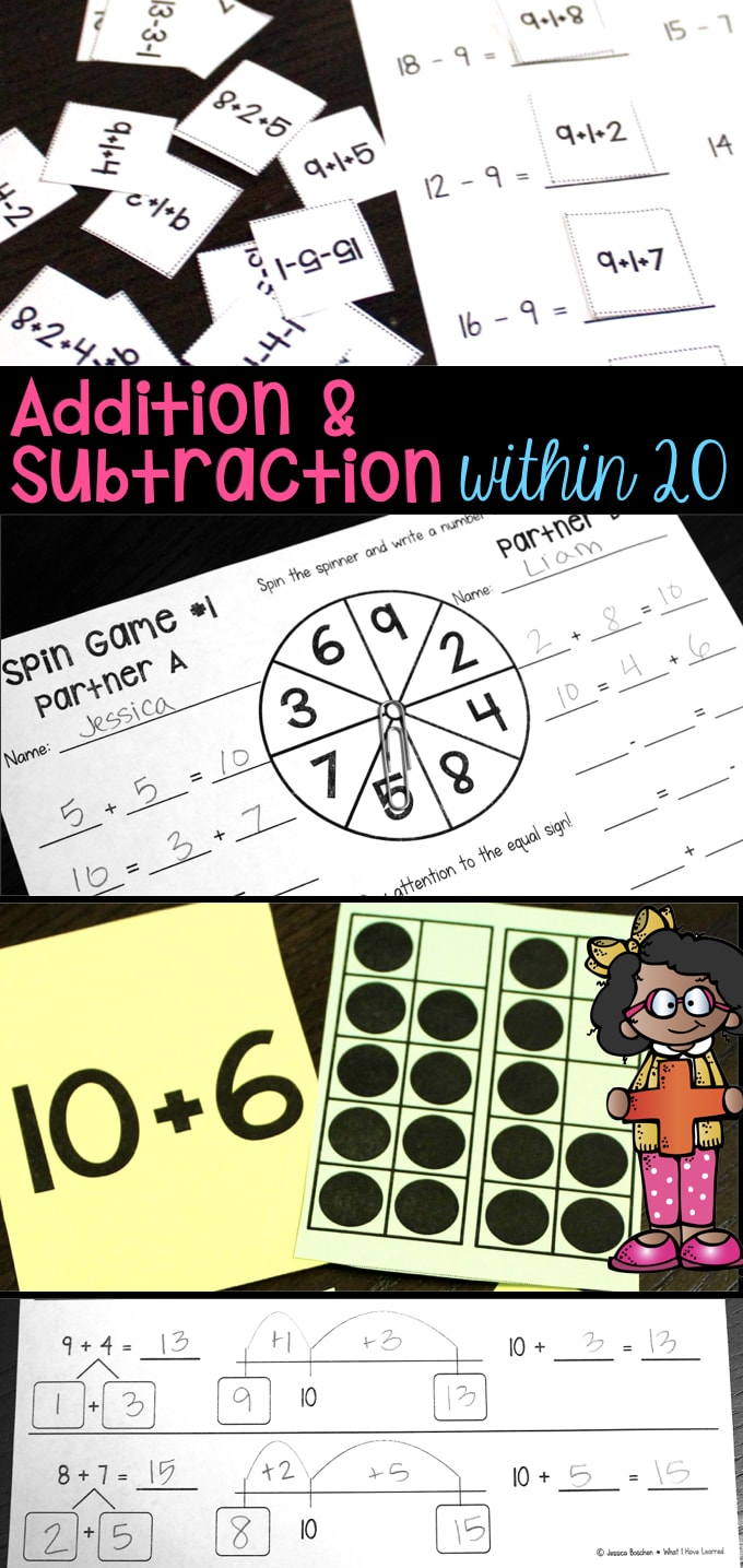 hight resolution of Addition and Subtraction Within 20 - Make 10