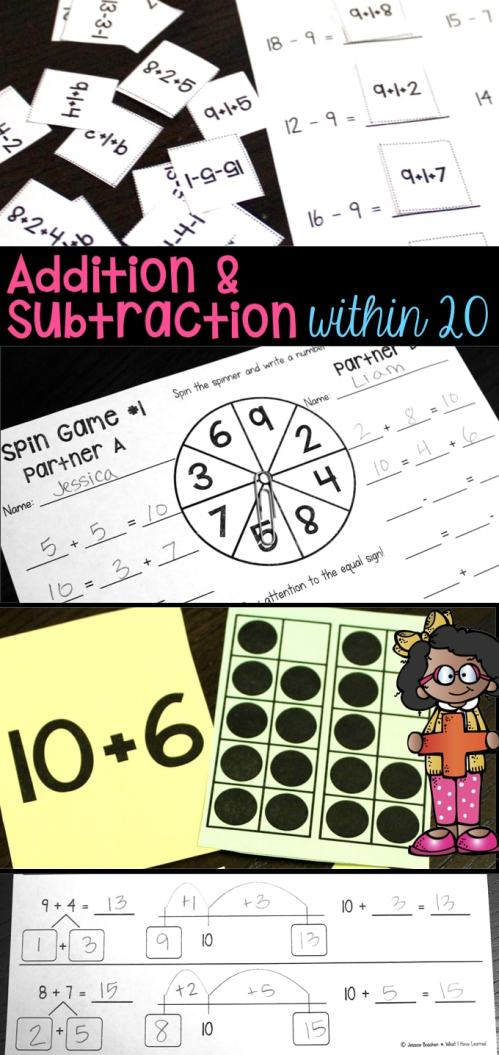 small resolution of Addition and Subtraction Within 20 - Make 10