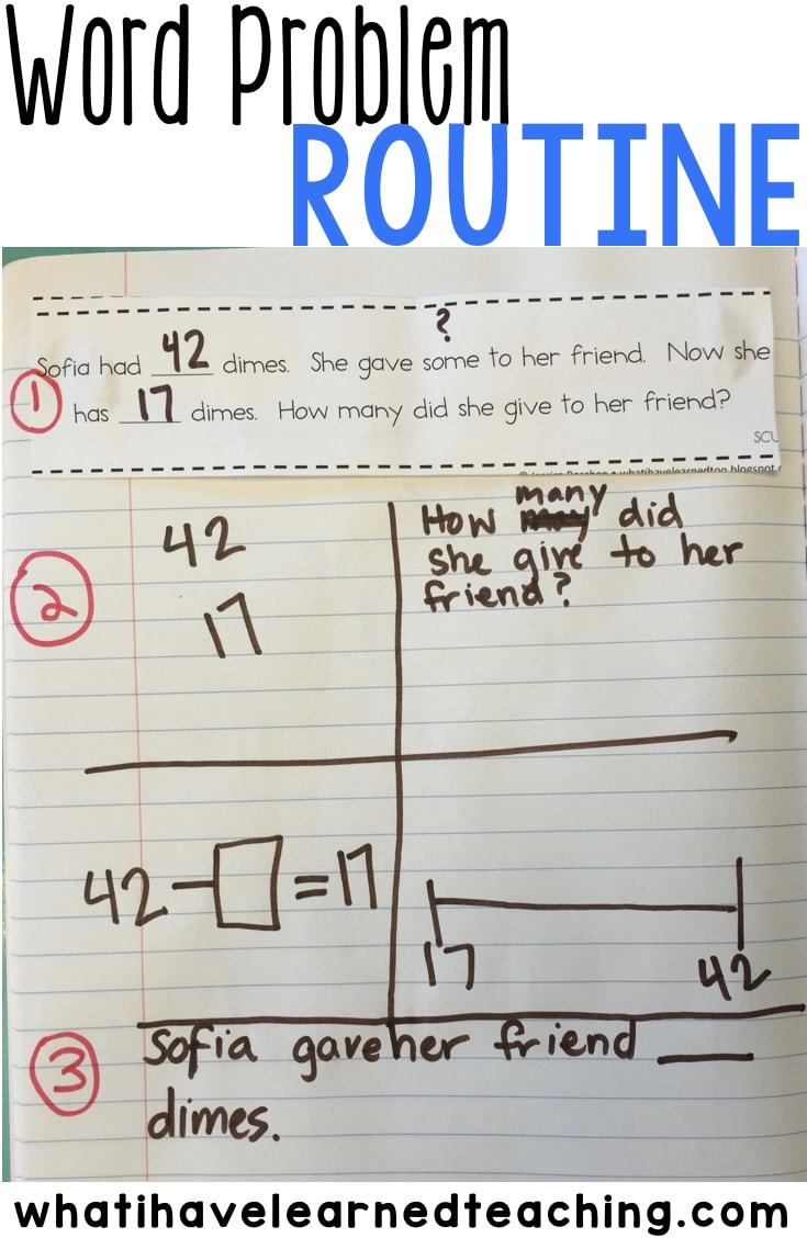 hight resolution of A Structured Word Problem Routine that Teaches Students to Analyze the  Problem