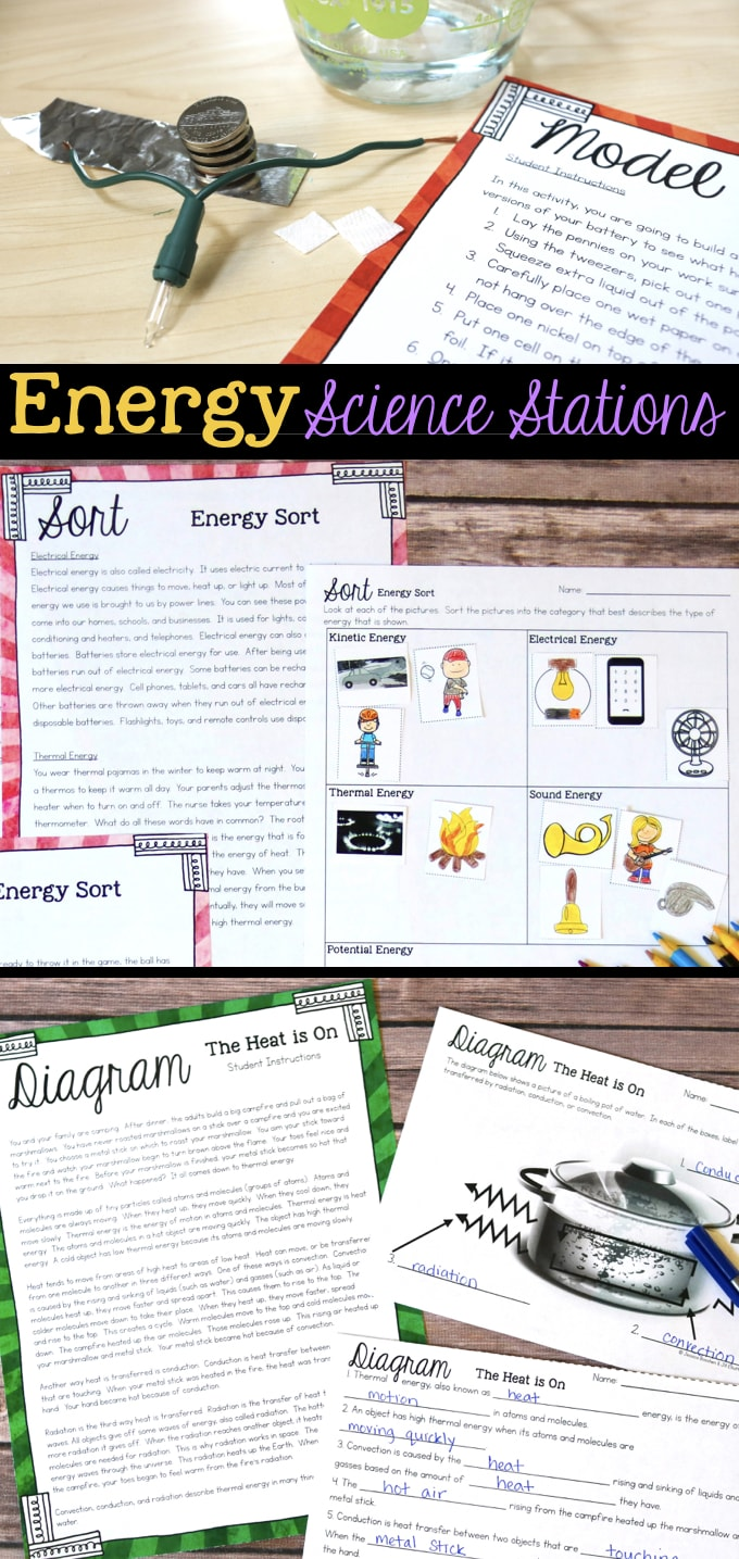 hight resolution of Energy Science Stations for Fourth Grade