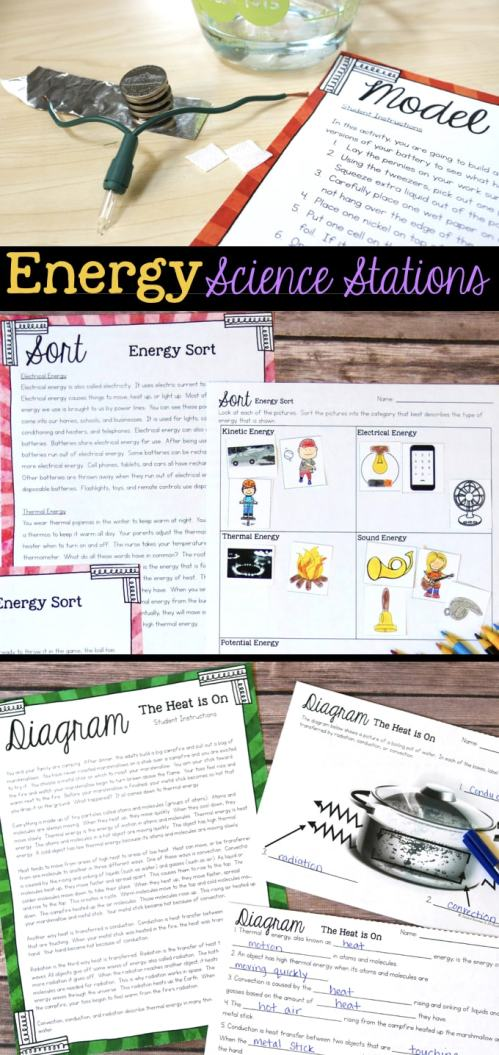 small resolution of Energy Science Stations for Fourth Grade