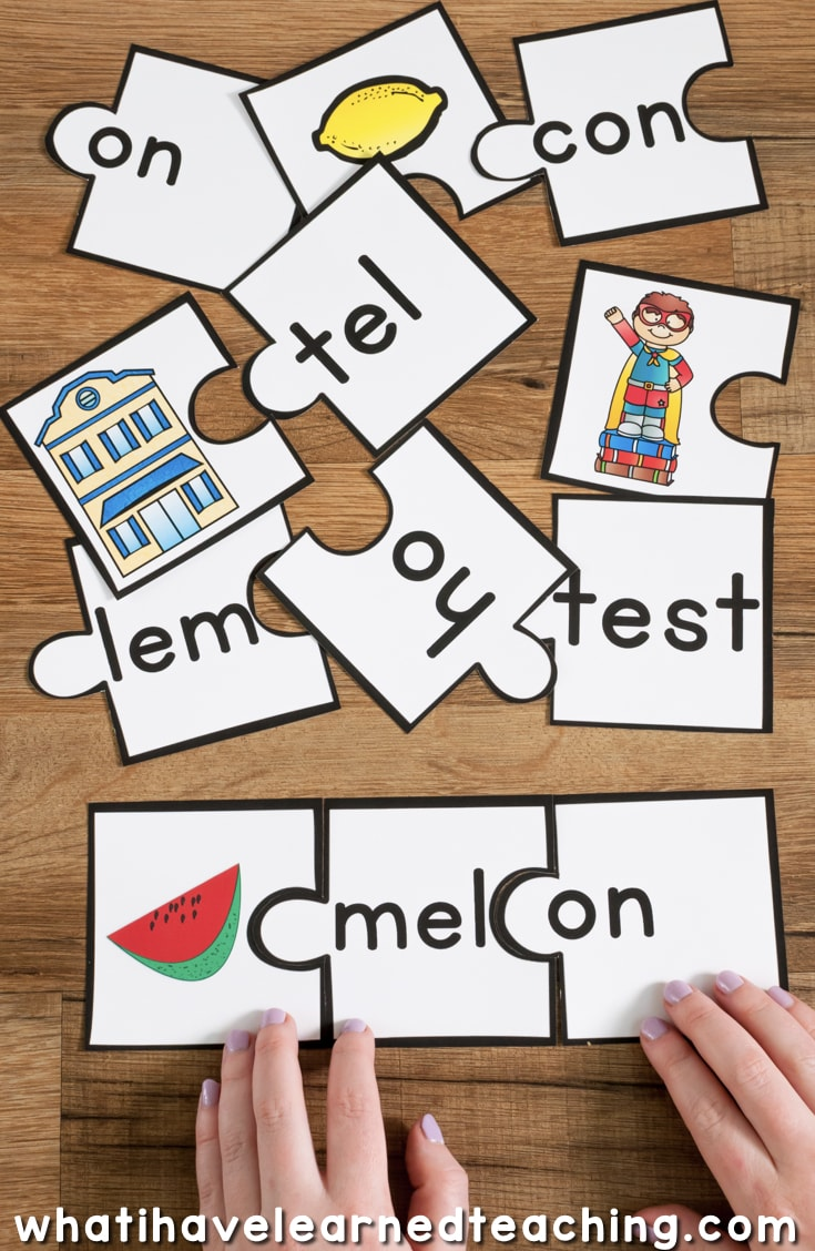 hight resolution of Open and Closed Syllables Games and Activities