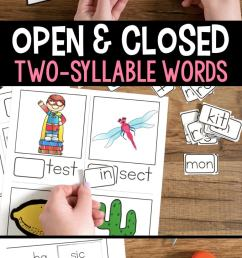 Open and Closed Syllables Games and Activities [ 1435 x 680 Pixel ]