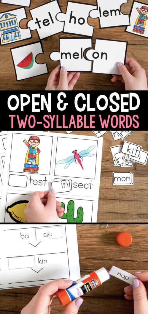 small resolution of Open and Closed Syllables Games and Activities