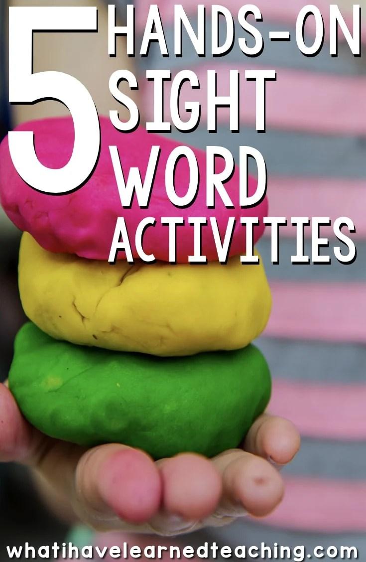 medium resolution of 5 Hands-On Sight Word Activities for Kindergarten