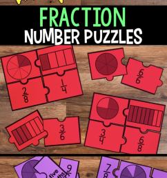 Fraction Number Puzzles for Third Grade [ 1435 x 680 Pixel ]
