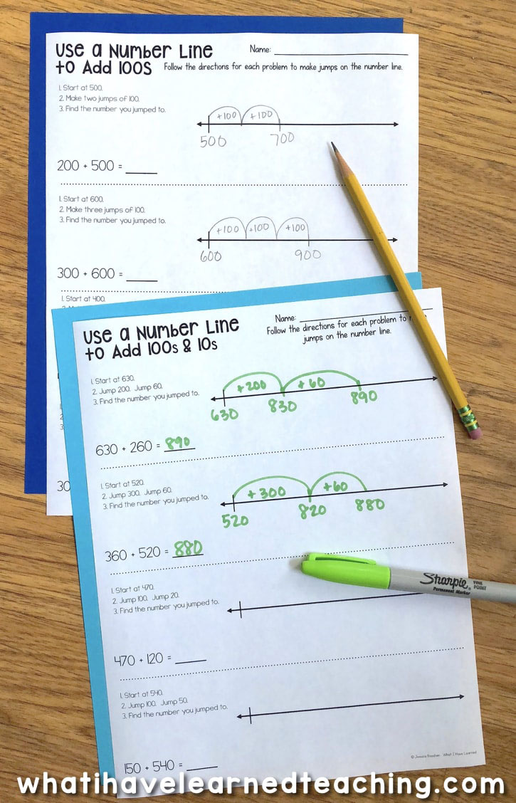 medium resolution of Three-Digit Addition Math Worksheets Using Addition Strategies