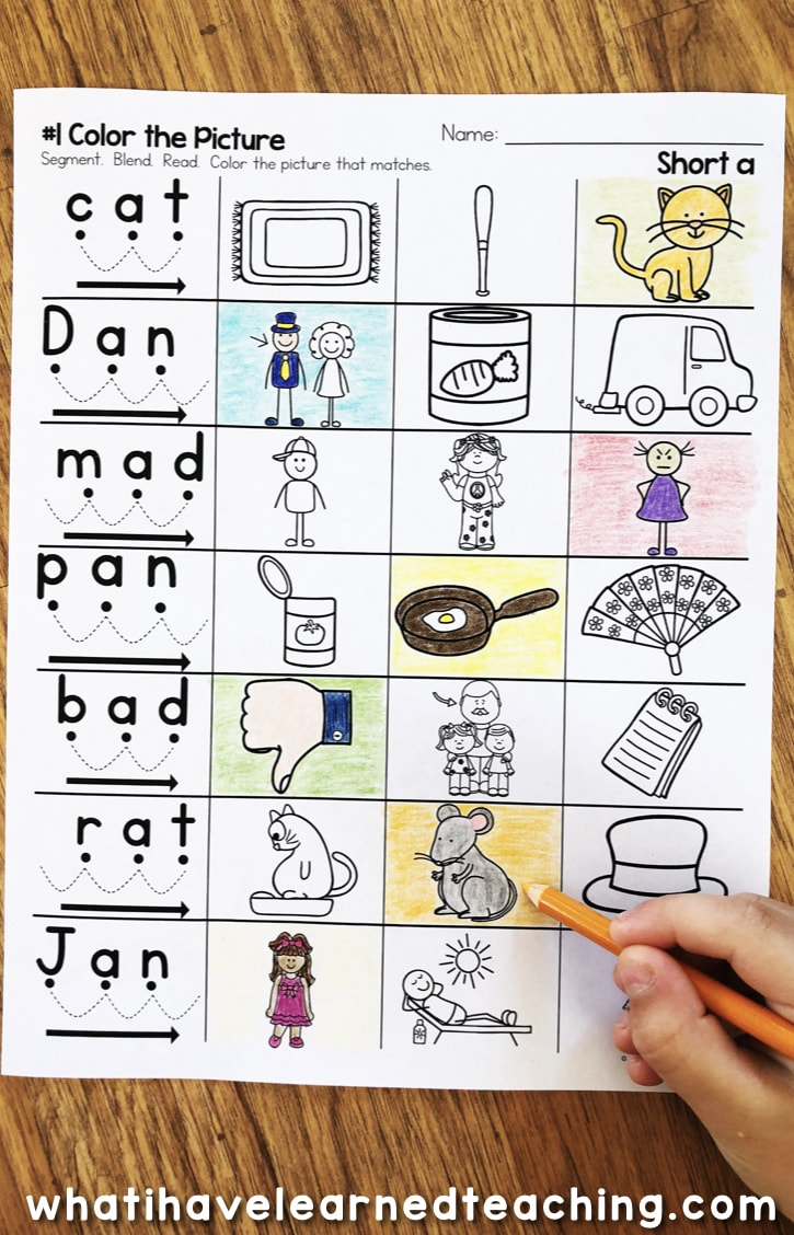 small resolution of Short A Phonics Worksheets - Short A CVC Words